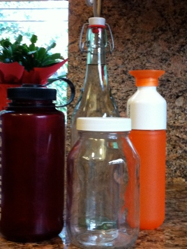 The orange one on the right is my favorite bottle to keep in my purse.