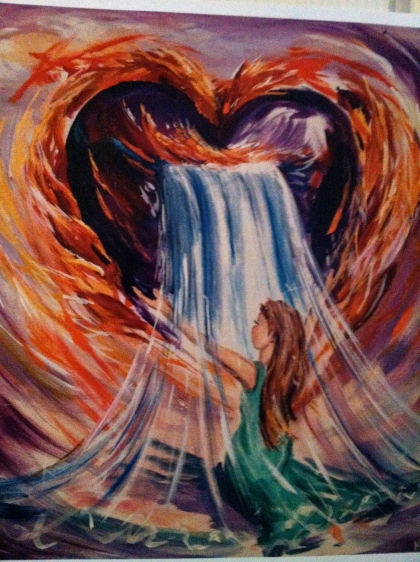 God's Heart of Passion For You (Original - Acrylic on Canvas by Kimi Block, 2008)