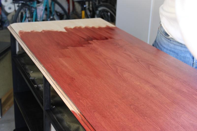 burgundy wood stain