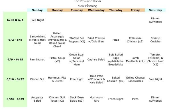 Jun-13 Meal Plan